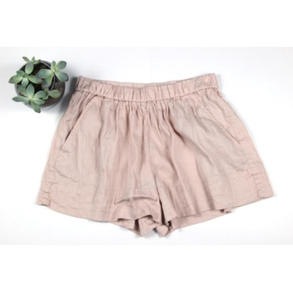62c977d32a Vince Shorts | Peach Elastic Waist Loose Fit Size Xs | Poshmark